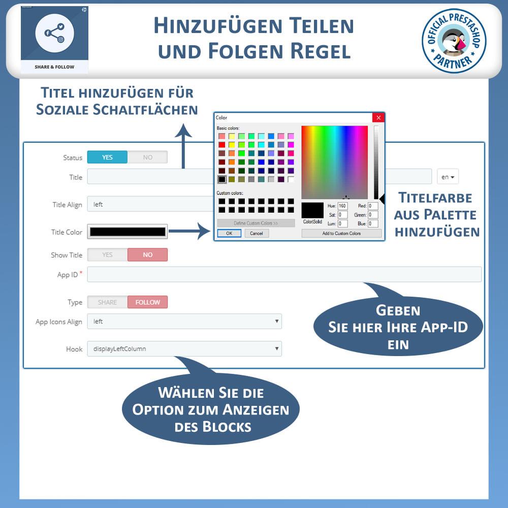 module - Teilen & Kommentieren - Teilen und folgen - Social Widget - 9