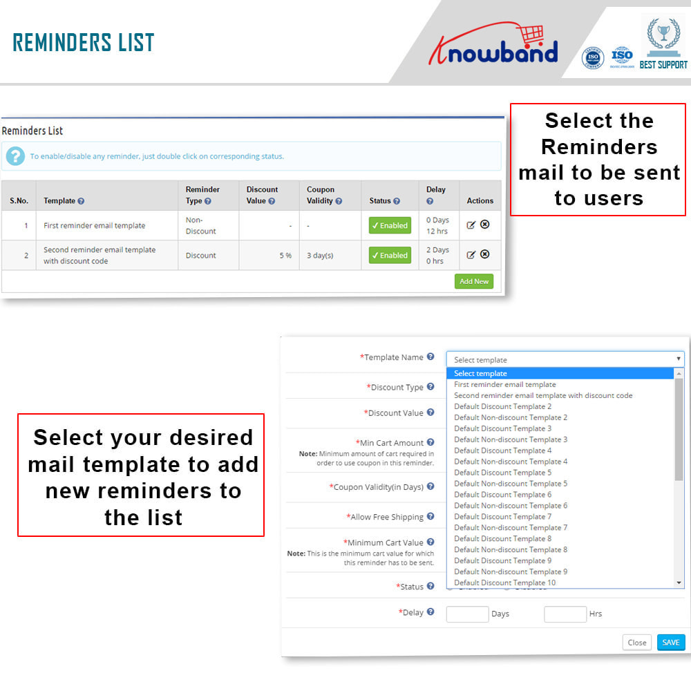 module - Remarketing & Shopping Cart Abandonment - Knowband - Abandoned Cart Serial Reminders - 2