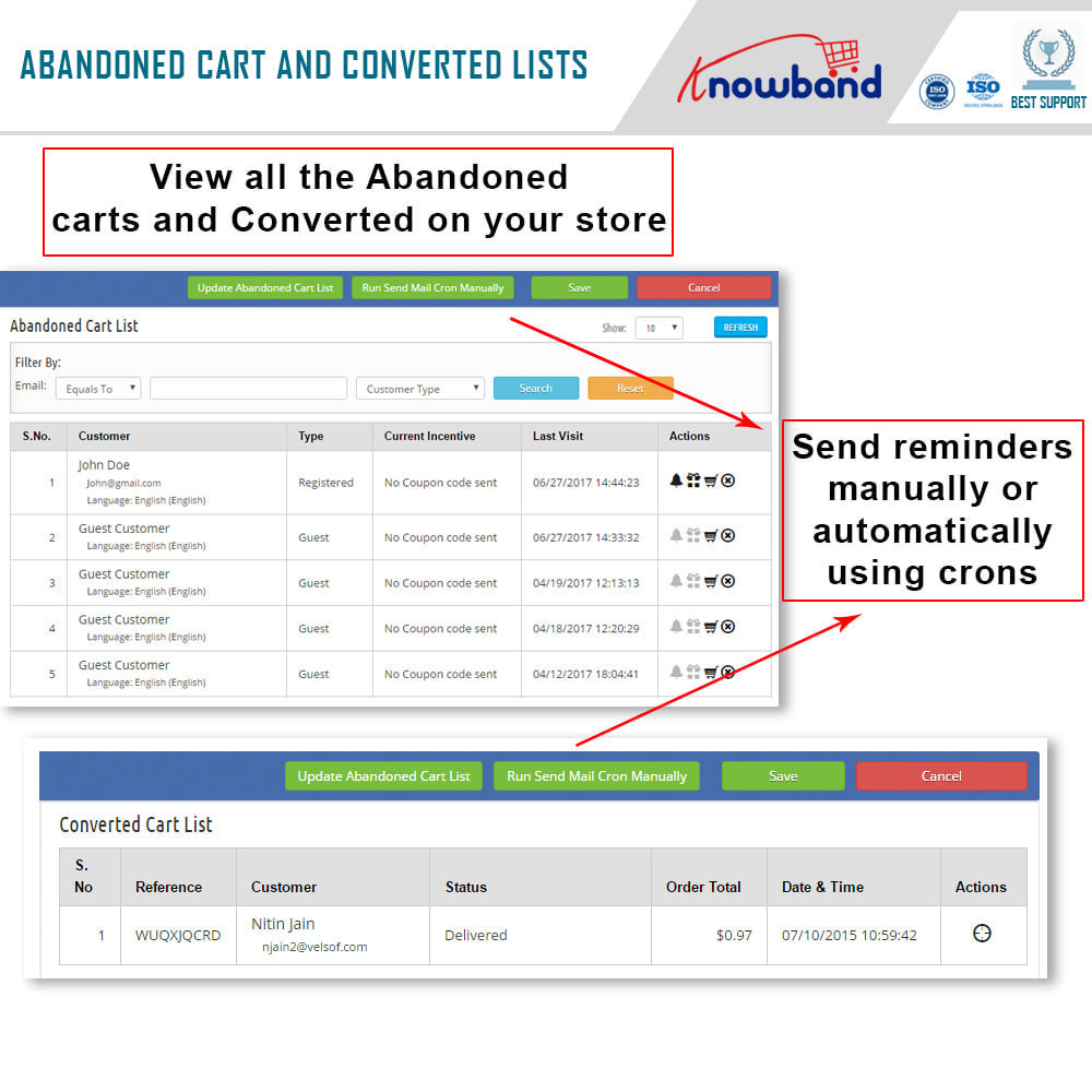 module - Remarketing & Shopping Cart Abandonment - Knowband - Abandoned Cart Serial Reminders - 4