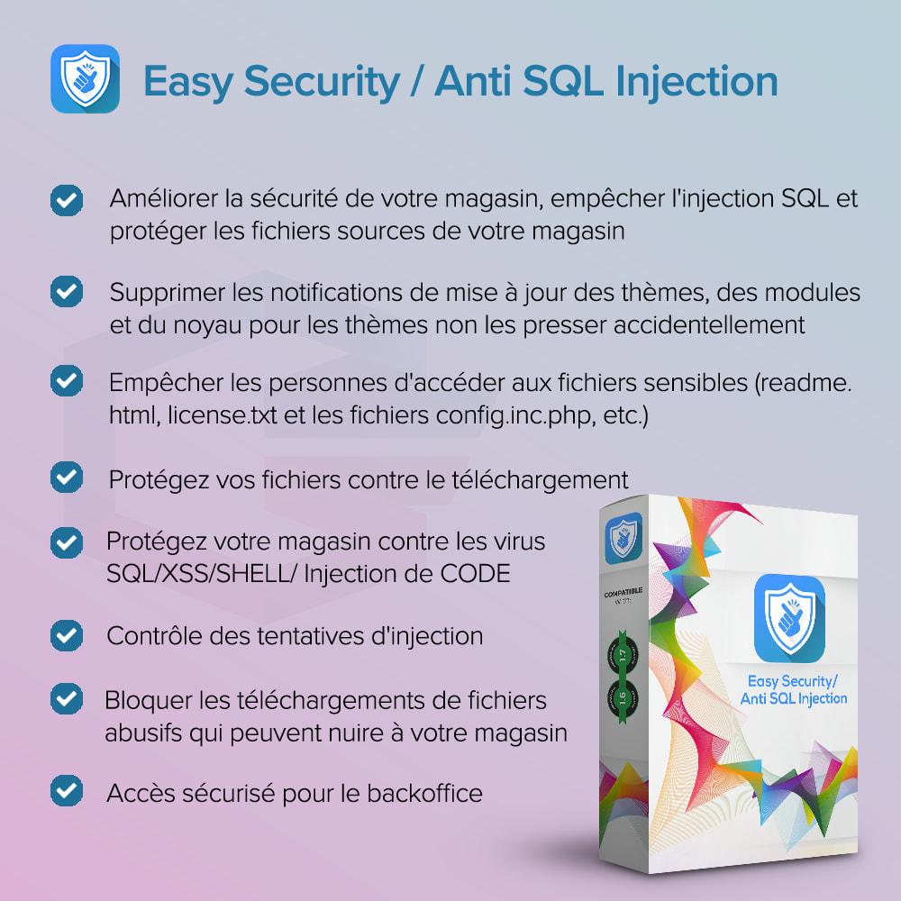 module - Sécurité & Accès - Sécurité facile / Anti SQL Injection PRO - 1
