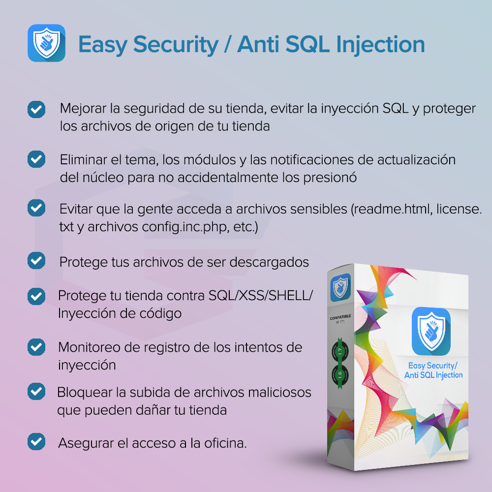 module - Seguridad y Accesos - Seguridad sencilla / Anti SQL Injection PRO - 1
