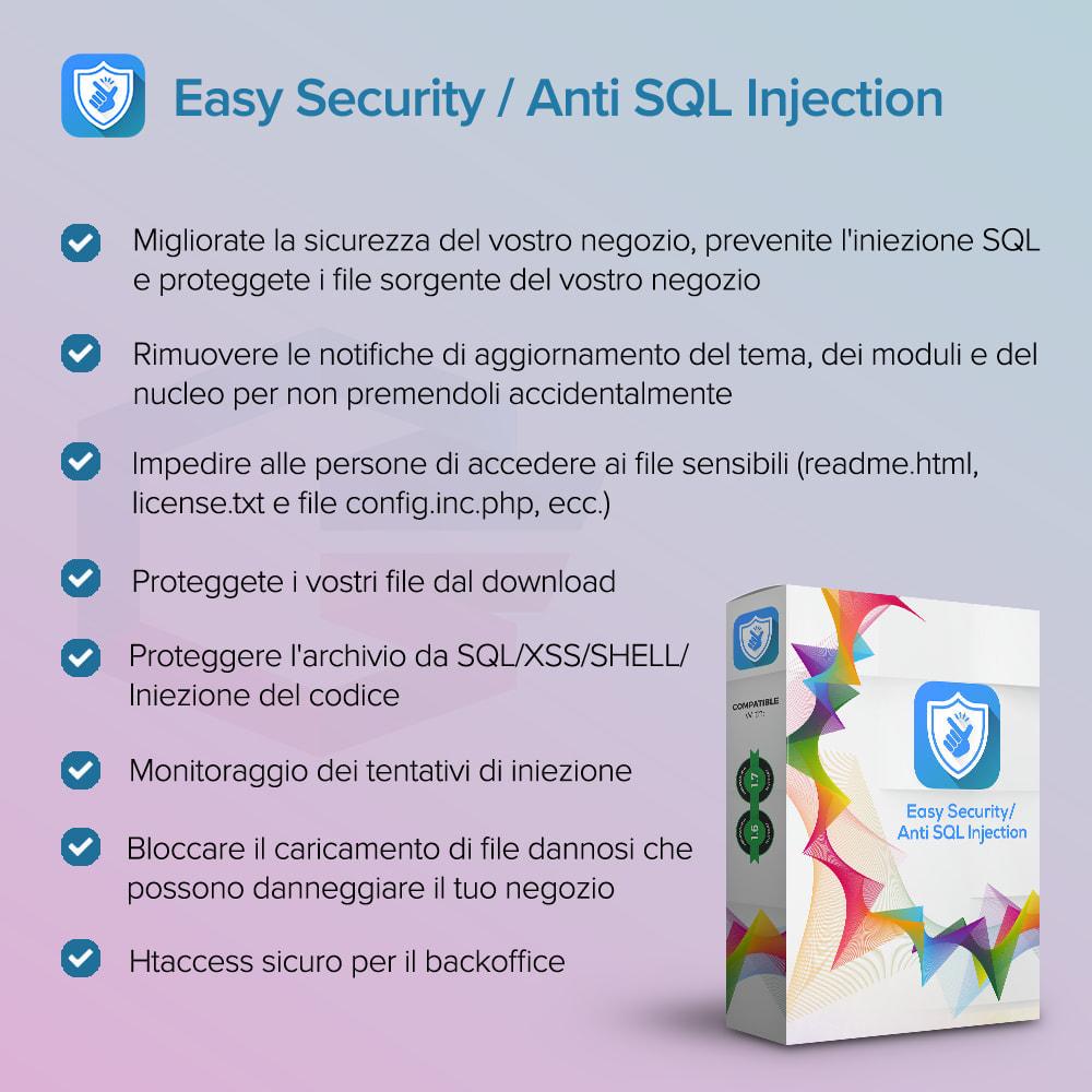 module - Security & Access - Sicurezza Semplice / Anti SQL Injection PRO - 1