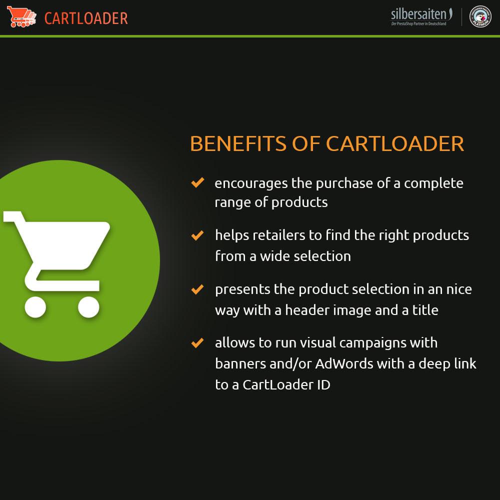 module - Cross-Selling & Produktbundles - Cart Loader - Warenkörbe für Produktsammlungen - 1