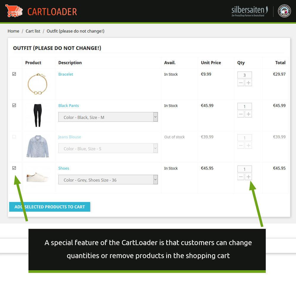 module - Cross-Selling & Produktbundles - Cart Loader - Warenkörbe für Produktsammlungen - 3