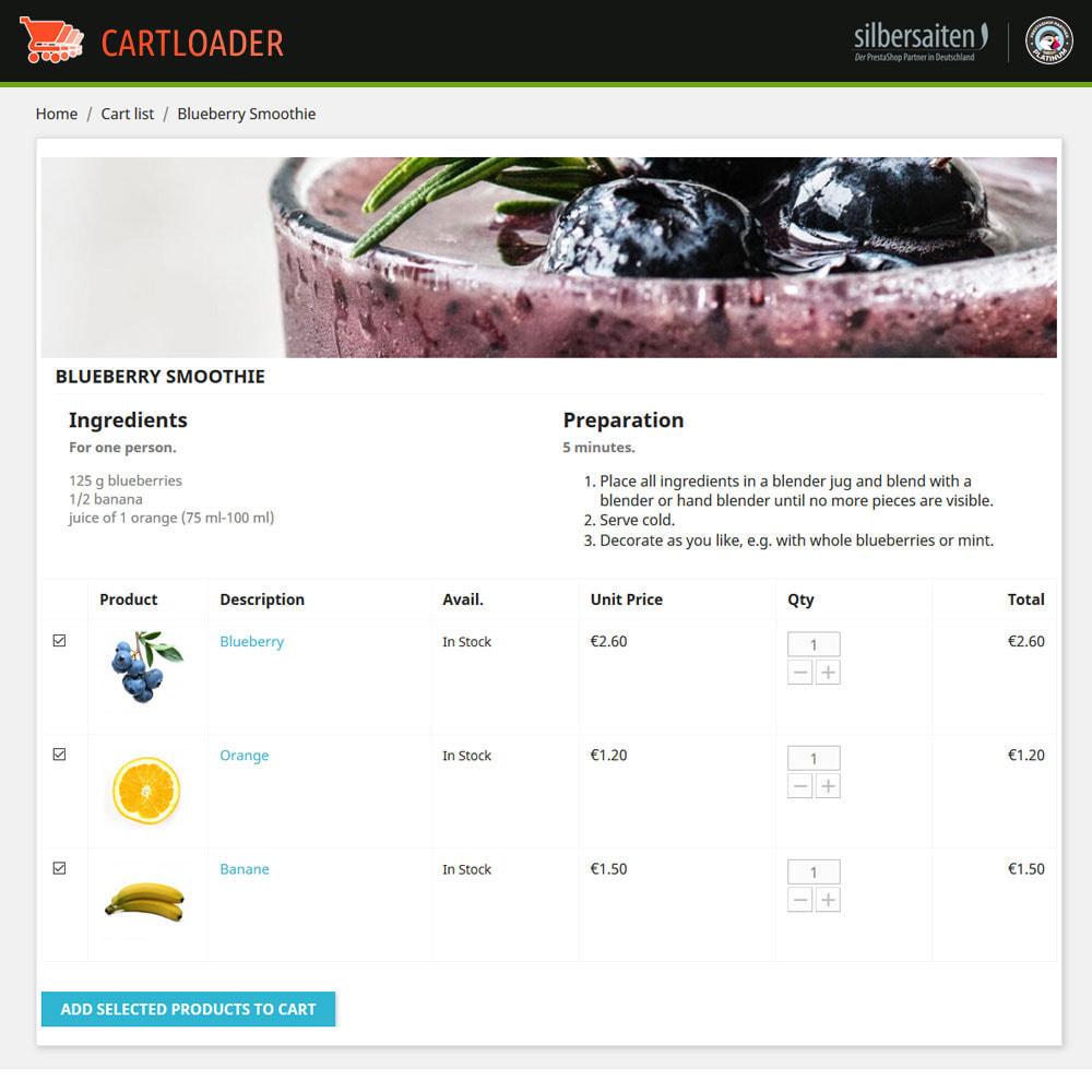 module - Cross-Selling & Produktbundles - Cart Loader - Warenkörbe für Produktsammlungen - 9