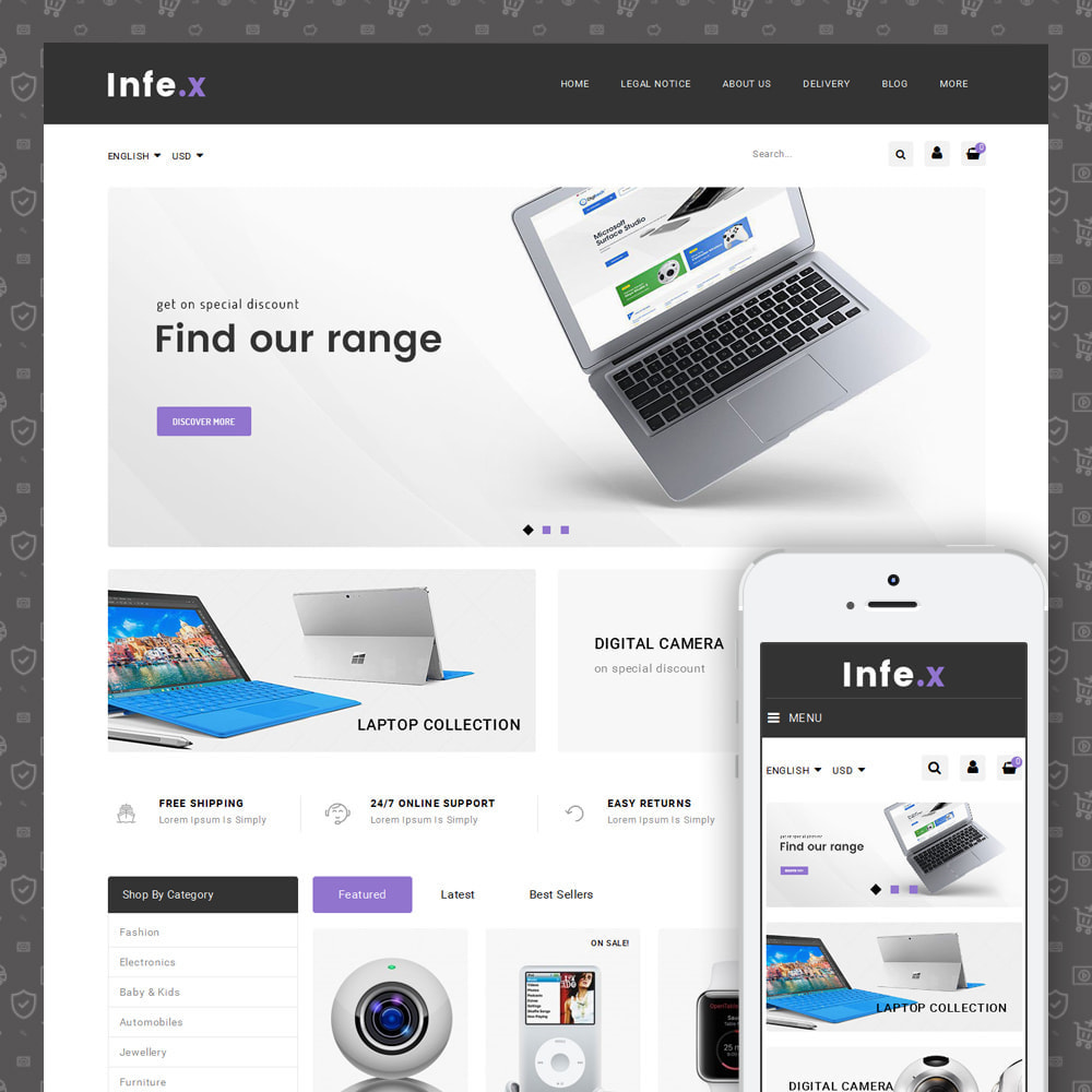 theme - Electronics & Computers - Infex - Electronic Store - 1