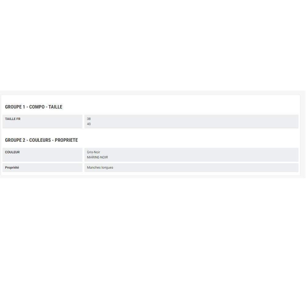 module - Déclinaisons & Personnalisation de produits - Groupes de caractéristiques - 5