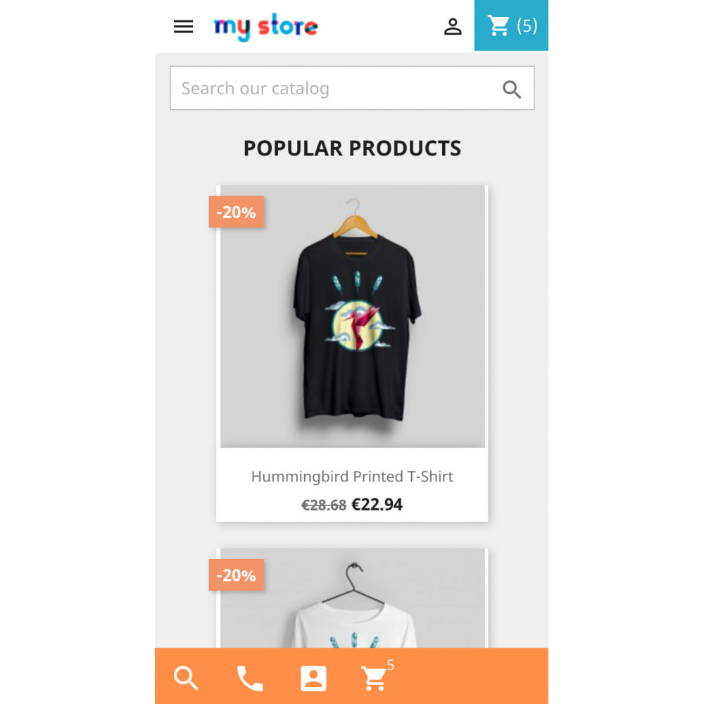 module - Mobile - Mobile UX - conversion buttons, product images slider - 2