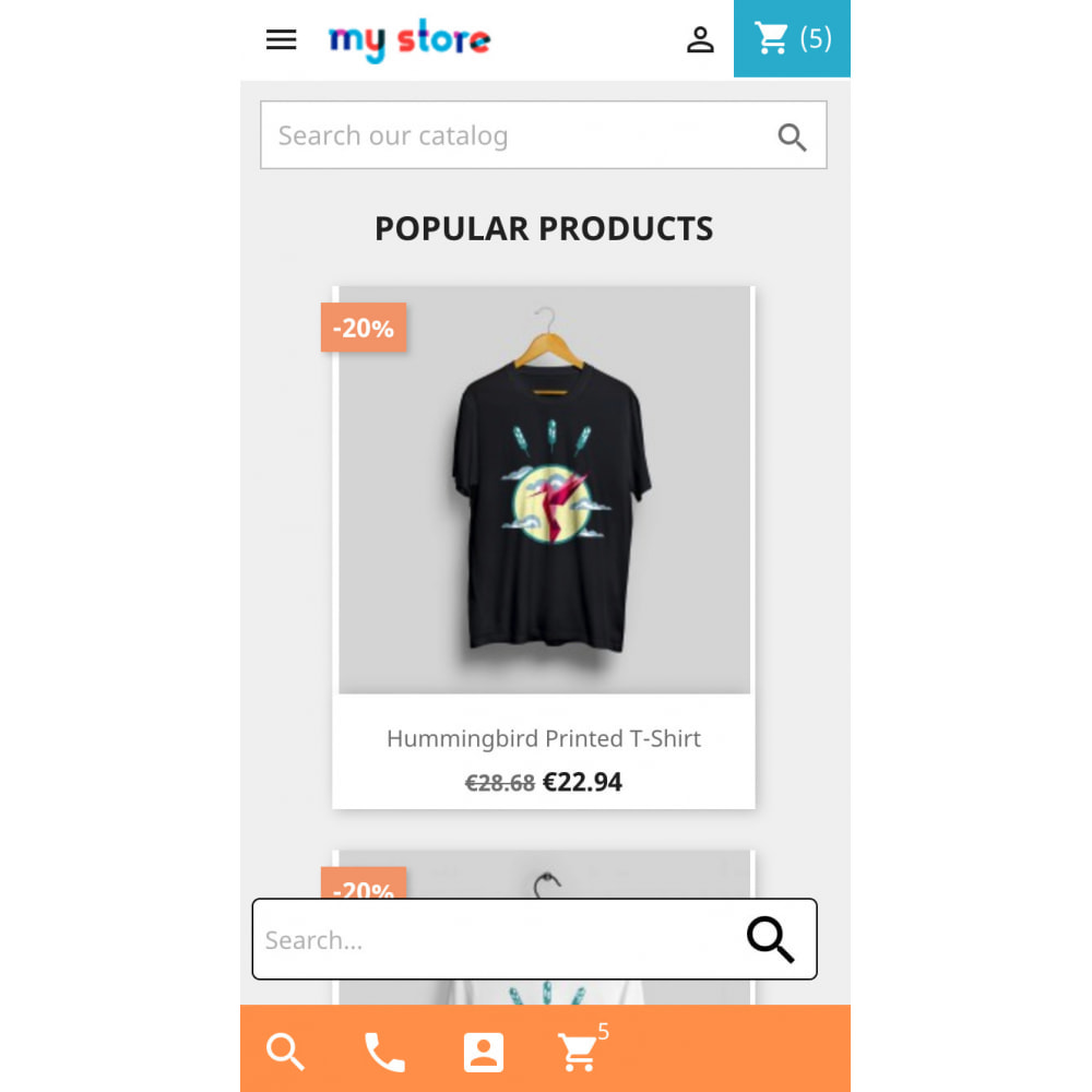 module - Mobile - Mobile UX - conversion buttons, product images slider - 3