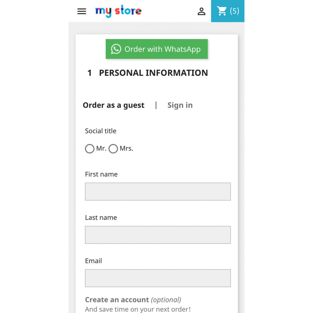 module - Dispositivos-móveis - Mobile quick order on WhatsApp in 1 click - 5