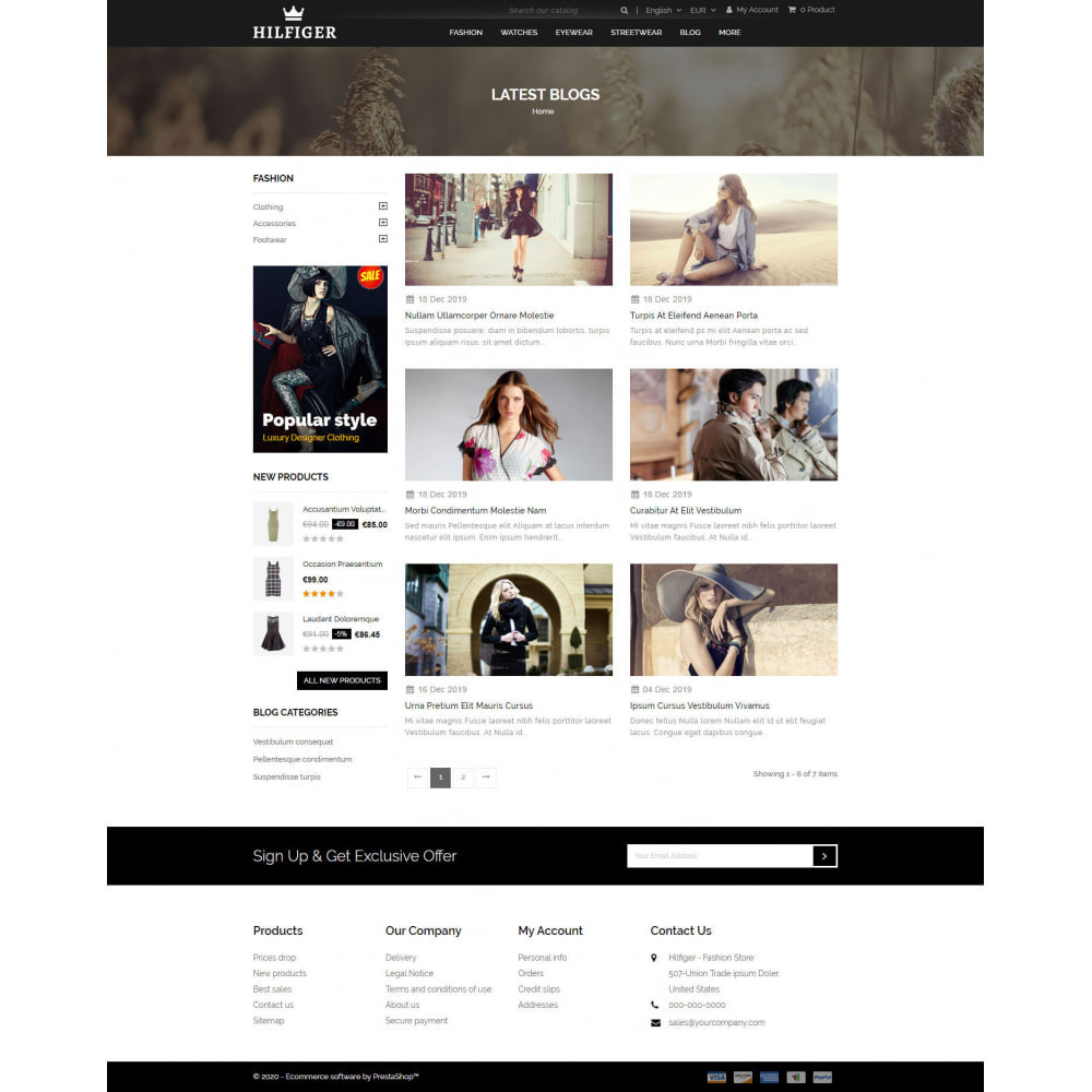 theme - Мода и обувь - Hilfiger - Fashion Store - 9