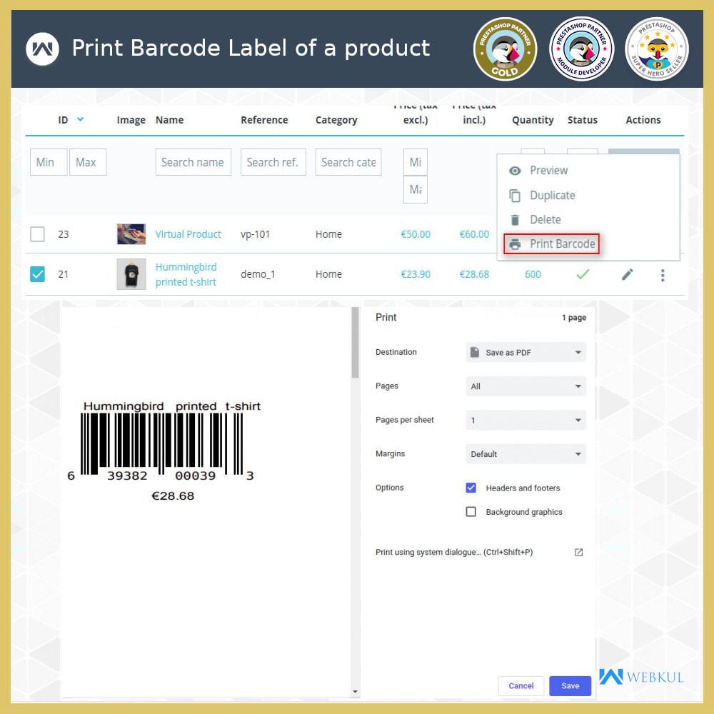 module - Voorbereiding & Verzending - Product Barcode Label | Barcode Generator - 3
