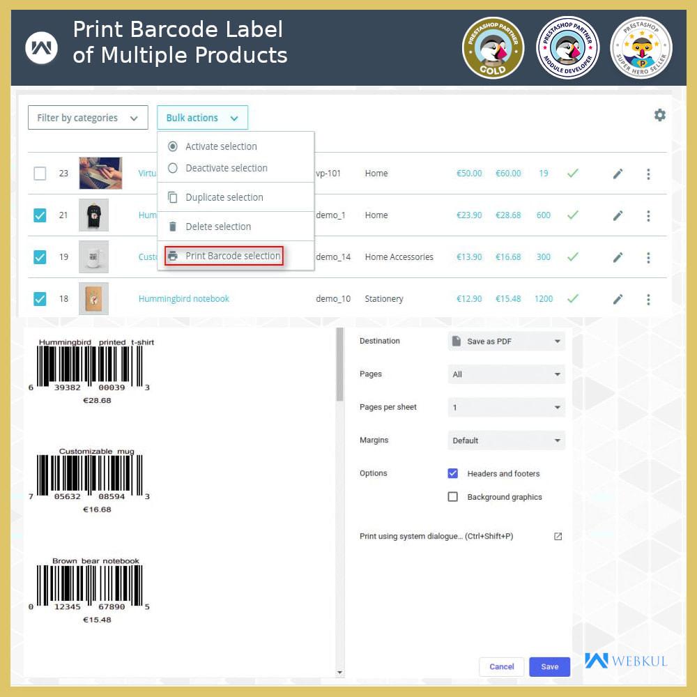 module - Voorbereiding & Verzending - Product Barcode Label | Barcode Generator - 4