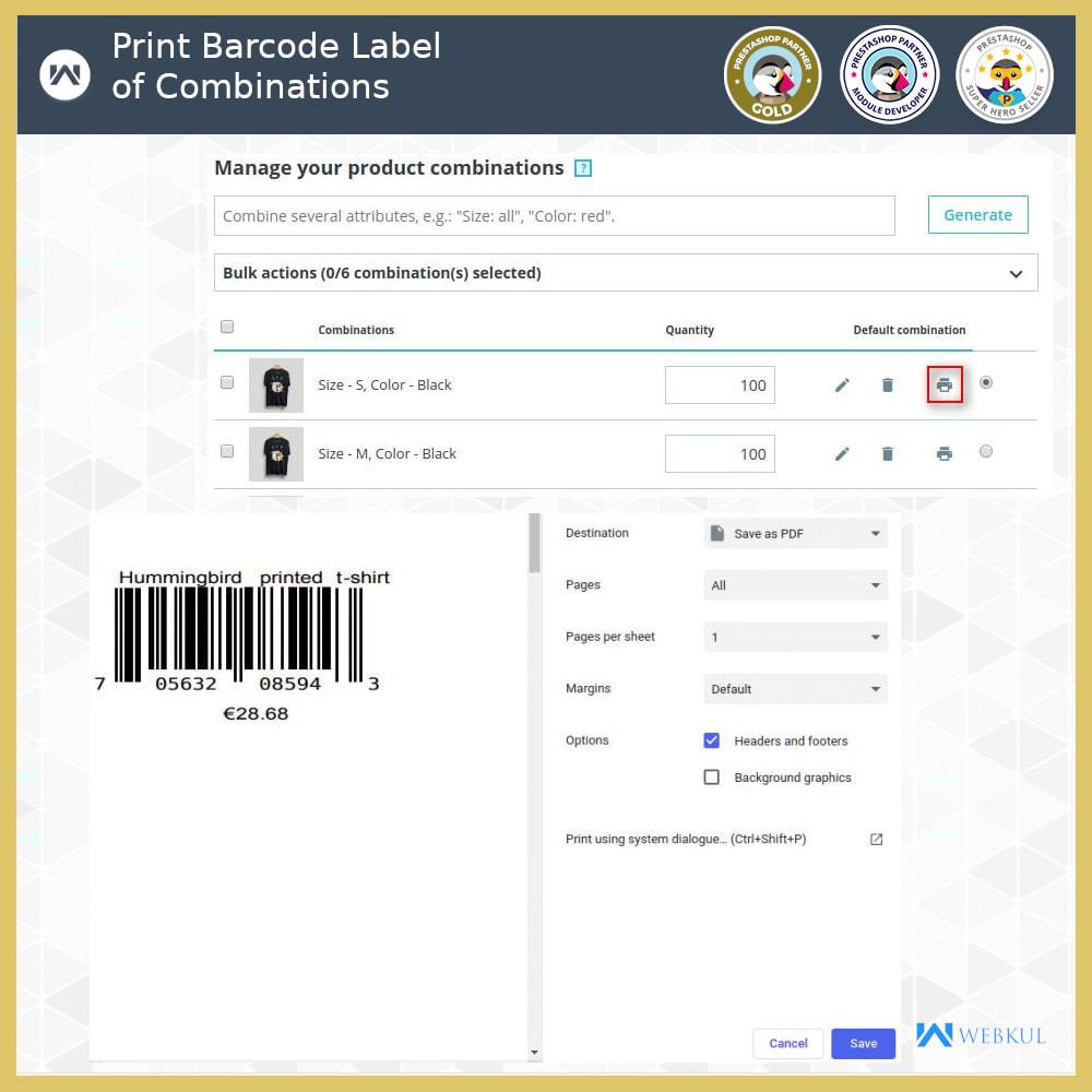 module - Voorbereiding & Verzending - Product Barcode Label | Barcode Generator - 5
