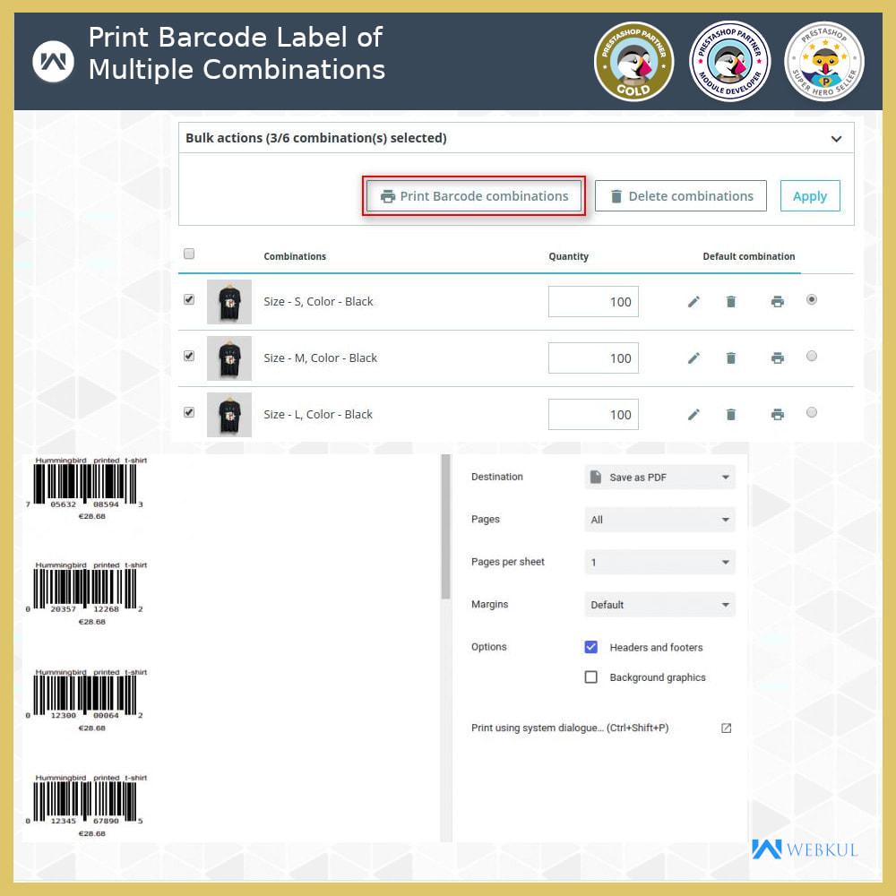 module - Voorbereiding & Verzending - Product Barcode Label | Barcode Generator - 6