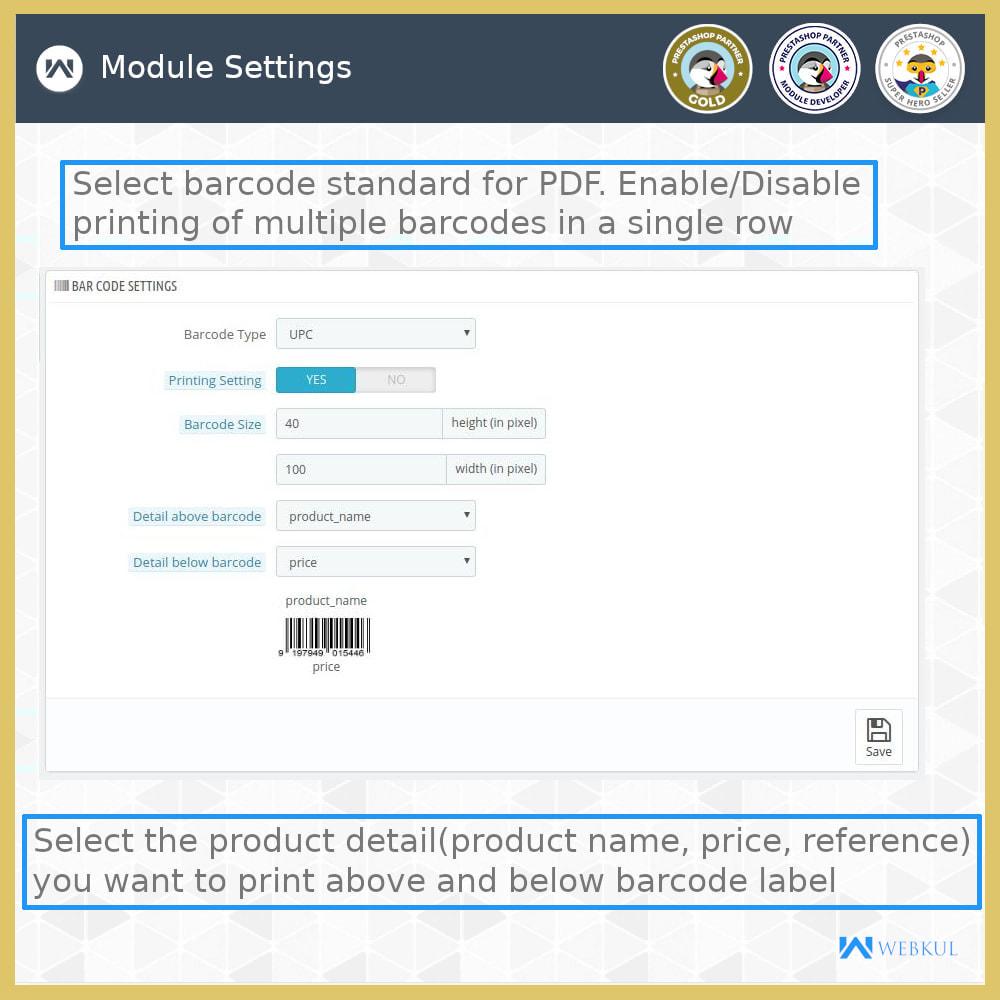 module - Voorbereiding & Verzending - Product Barcode Label | Barcode Generator - 7