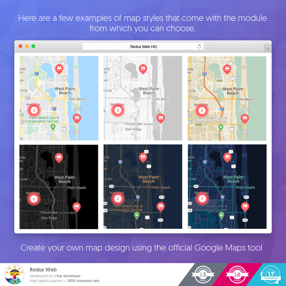 module - Internationaal & Lokalisatie - Geavanceerde Store Map - Google Maps - 6