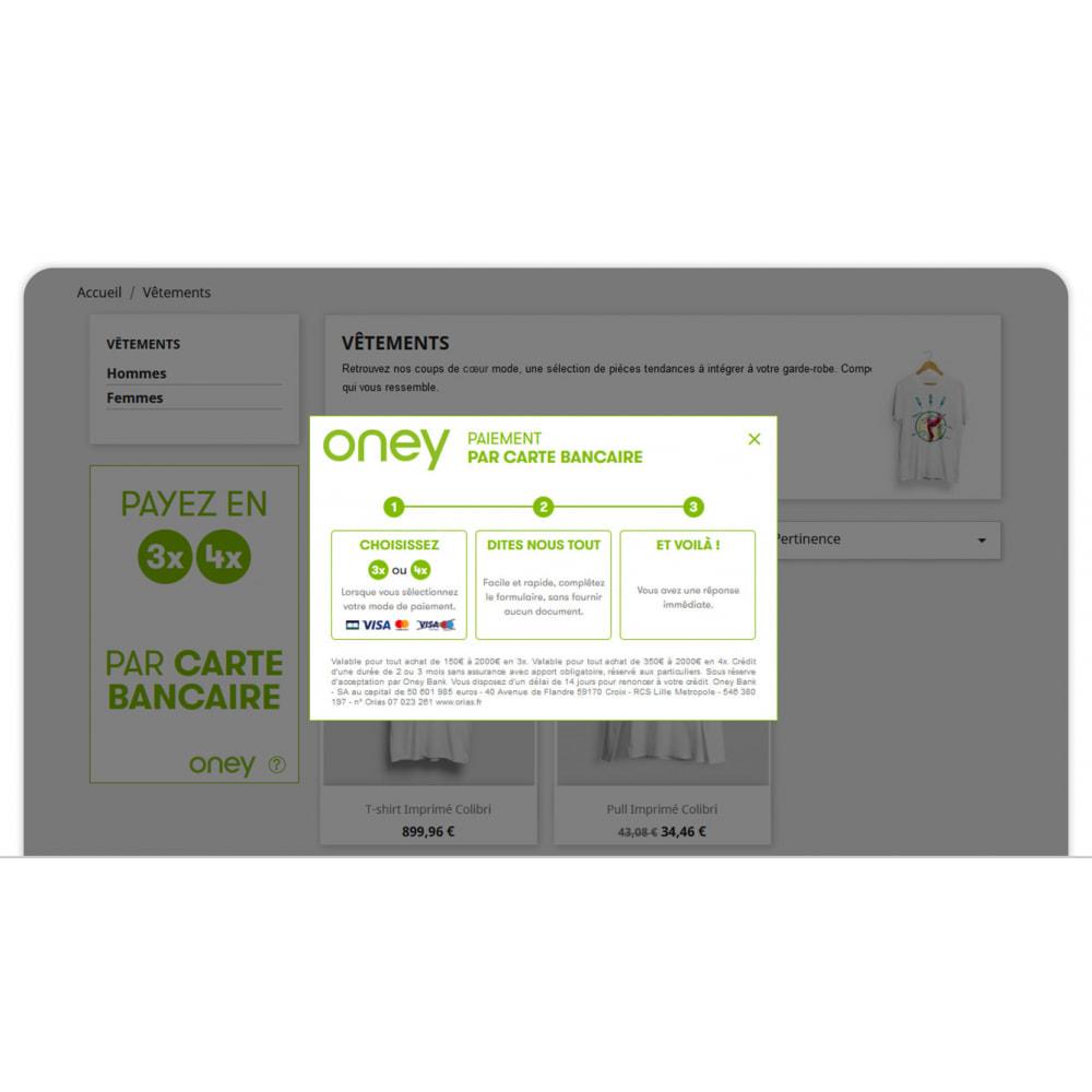 module - Inne środki płatności - 3x 4x Oney Payment in 3 4 instalments by credit card - 3