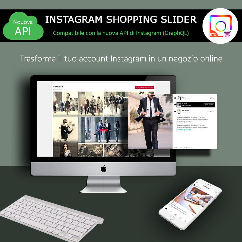 module - Slider & Gallerie - INS Shopping Slider - Integrazione social network - 1