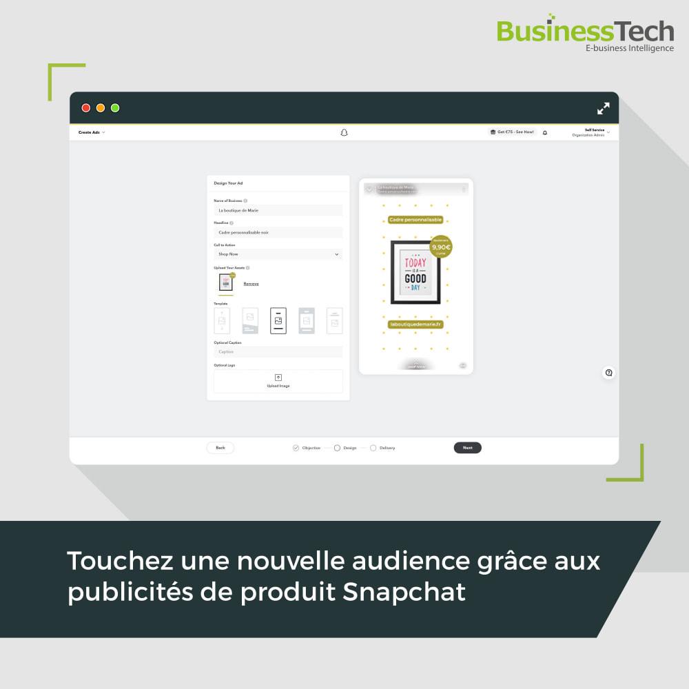 module - Remarketing & Paniers Abandonnés - Snapchat Ads + Pixel - 1