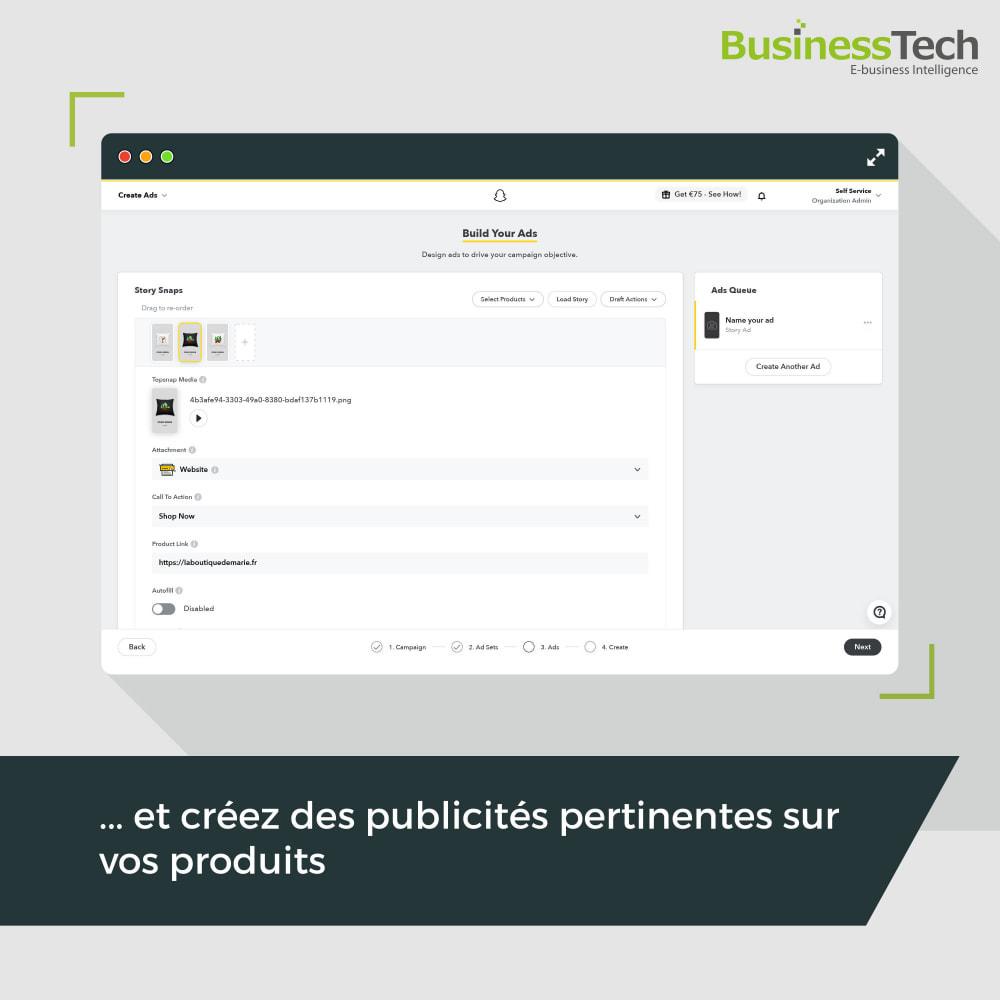module - Remarketing & Paniers Abandonnés - Snapchat Ads + Pixel - 6