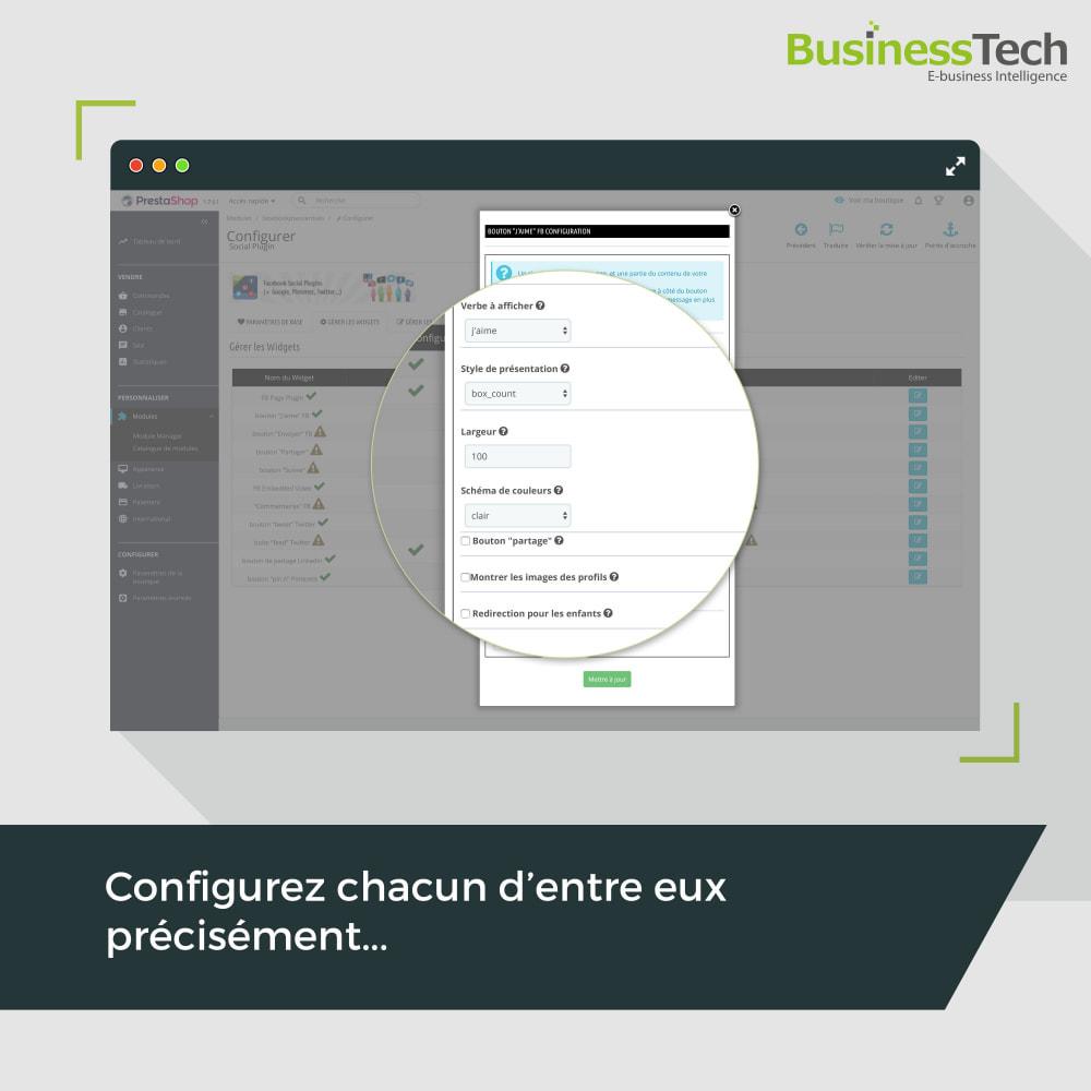 module - Boutons de Partage & Commentaires - Social Plugins - 3