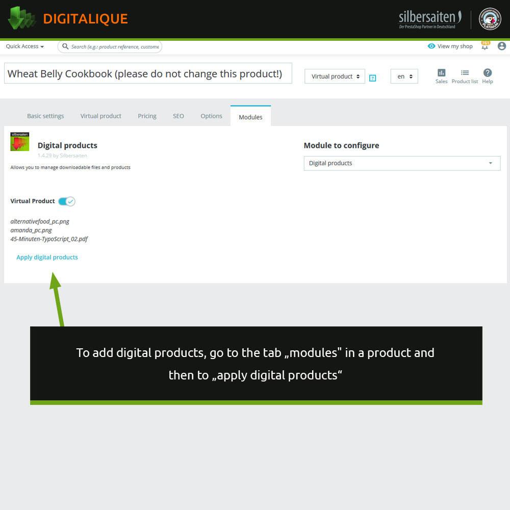 module - Productos Digitales (de descarga) - Gestión de descargas virtuales - 2