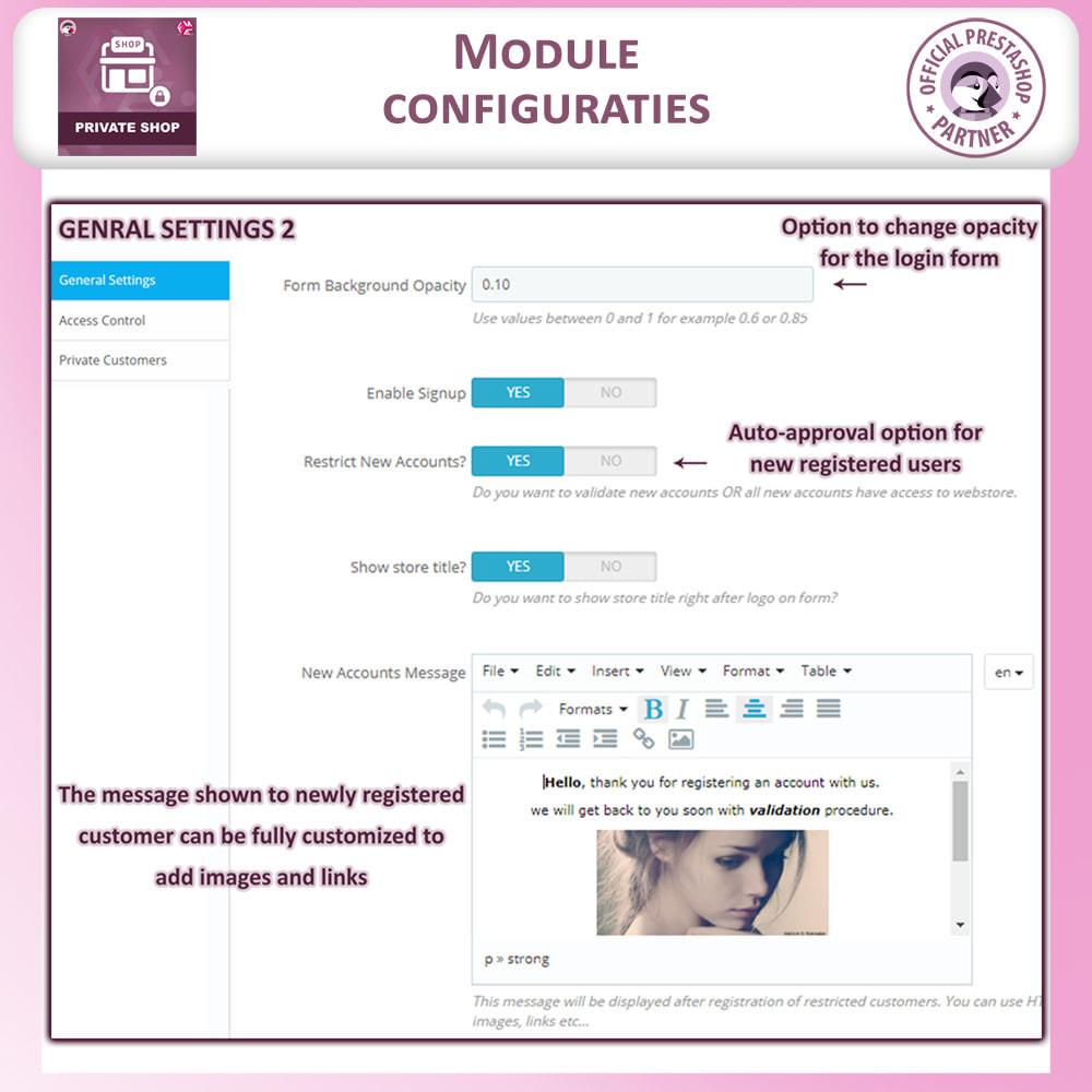 module - Uitverkoop & Besloten verkoop - Prive Winkel - Inloggen om producten te zien/Winkel - 14