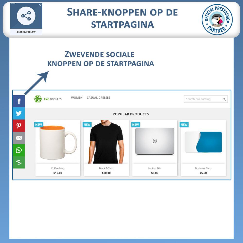 module - Deelknoppen & Commentaren - Delen en volgen - Social Widget - 2