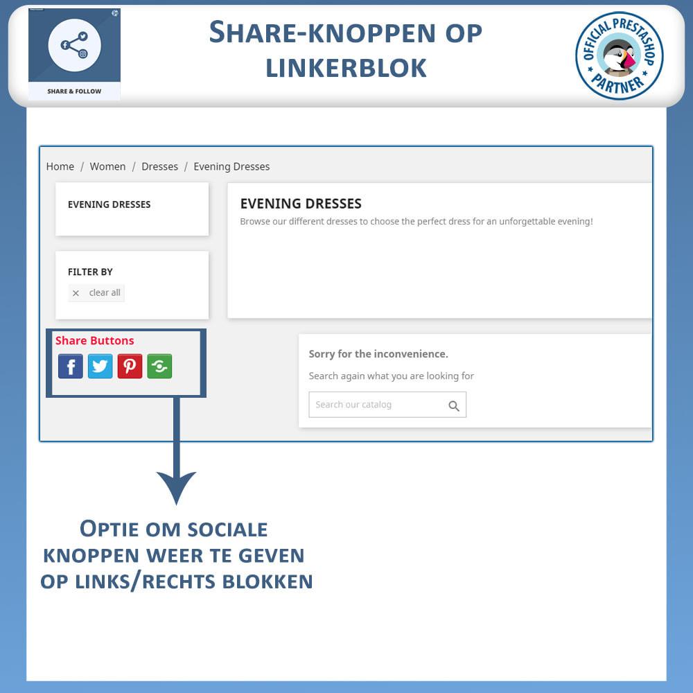 module - Deelknoppen & Commentaren - Delen en volgen - Social Widget - 3