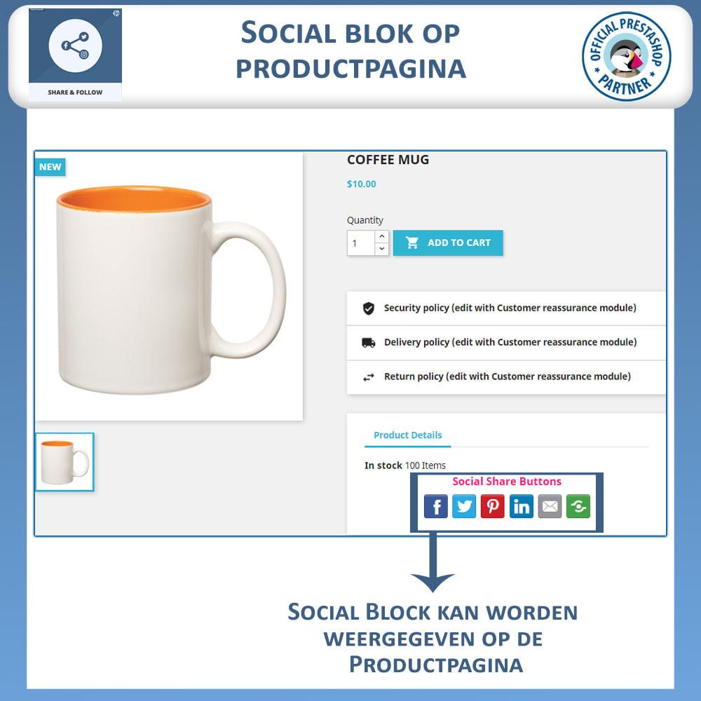 module - Deelknoppen & Commentaren - Delen en volgen - Social Widget - 4