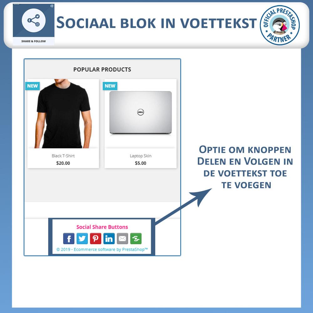 module - Deelknoppen & Commentaren - Delen en volgen - Social Widget - 5