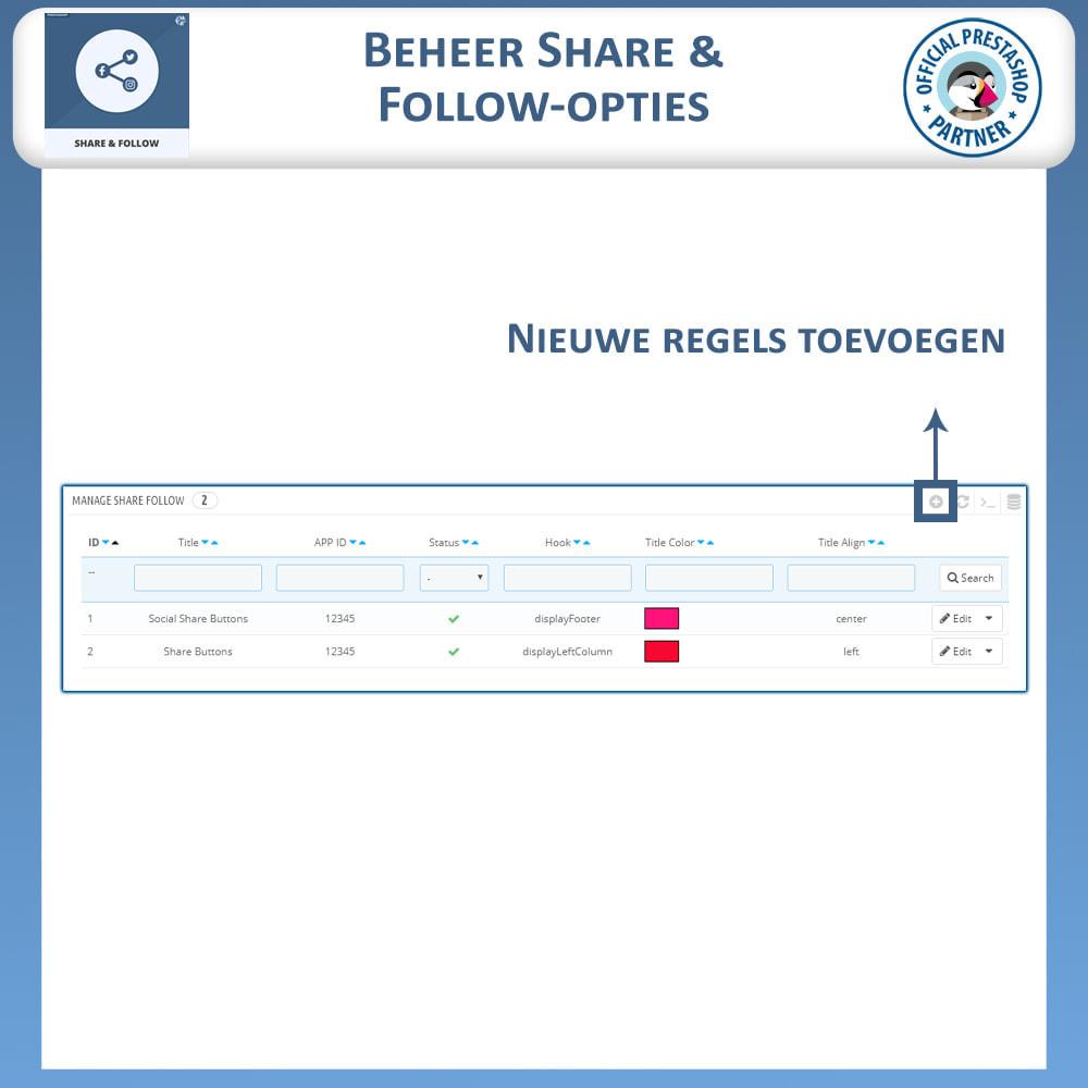 module - Deelknoppen & Commentaren - Delen en volgen - Social Widget - 8