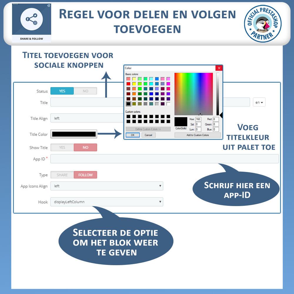 module - Deelknoppen & Commentaren - Delen en volgen - Social Widget - 9