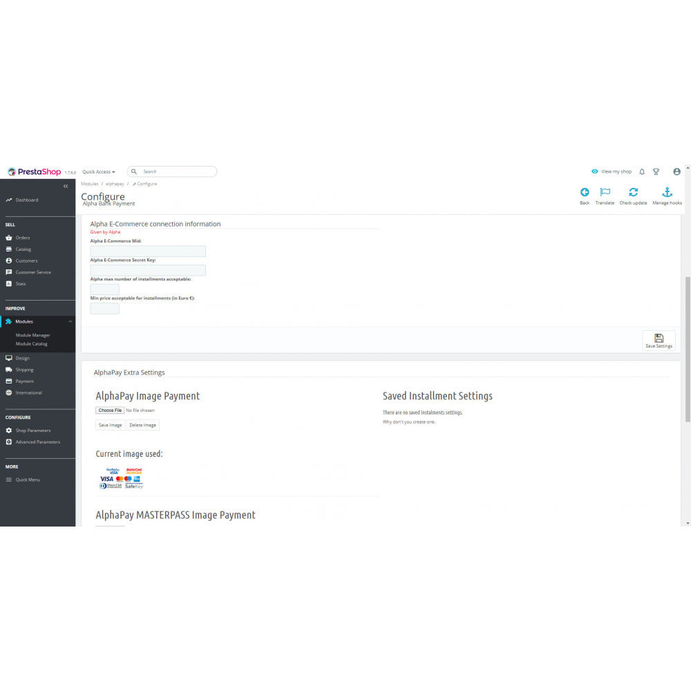 module - Creditcardbetaling of Walletbetaling - AlphaPay - 3