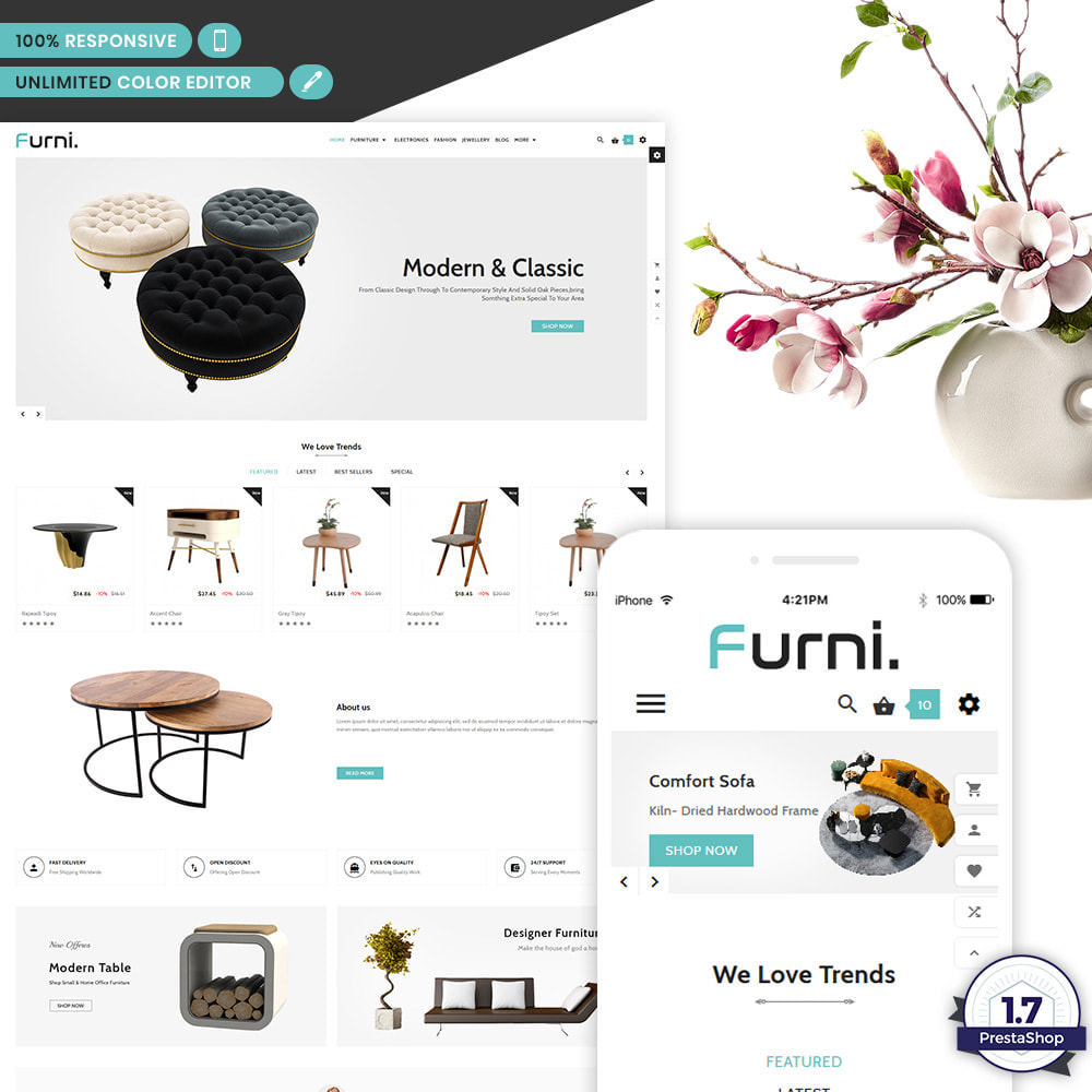theme - Home & Garden - Meubles – Furniture Multi Store Supported Shop - 1