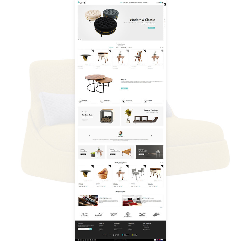 theme - Home & Garden - Meubles – Furniture Multi Store Supported Shop - 2