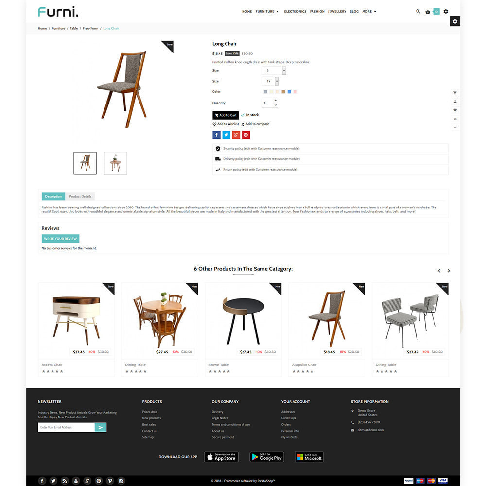 theme - Home & Garden - Meubles – Furniture Multi Store Supported Shop - 5