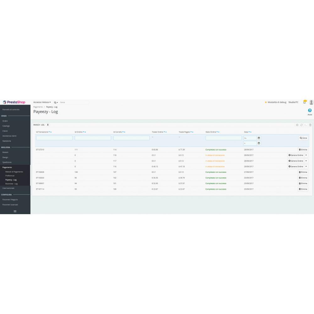 module - Pagamento con Carta di Credito o Wallet - Pagamento Payeezy - 4