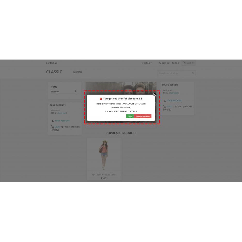module - Купоны на скидку для социальных сетей - Multilogin + Coupons + MailChimp + Statistics (30 in 1) - 4