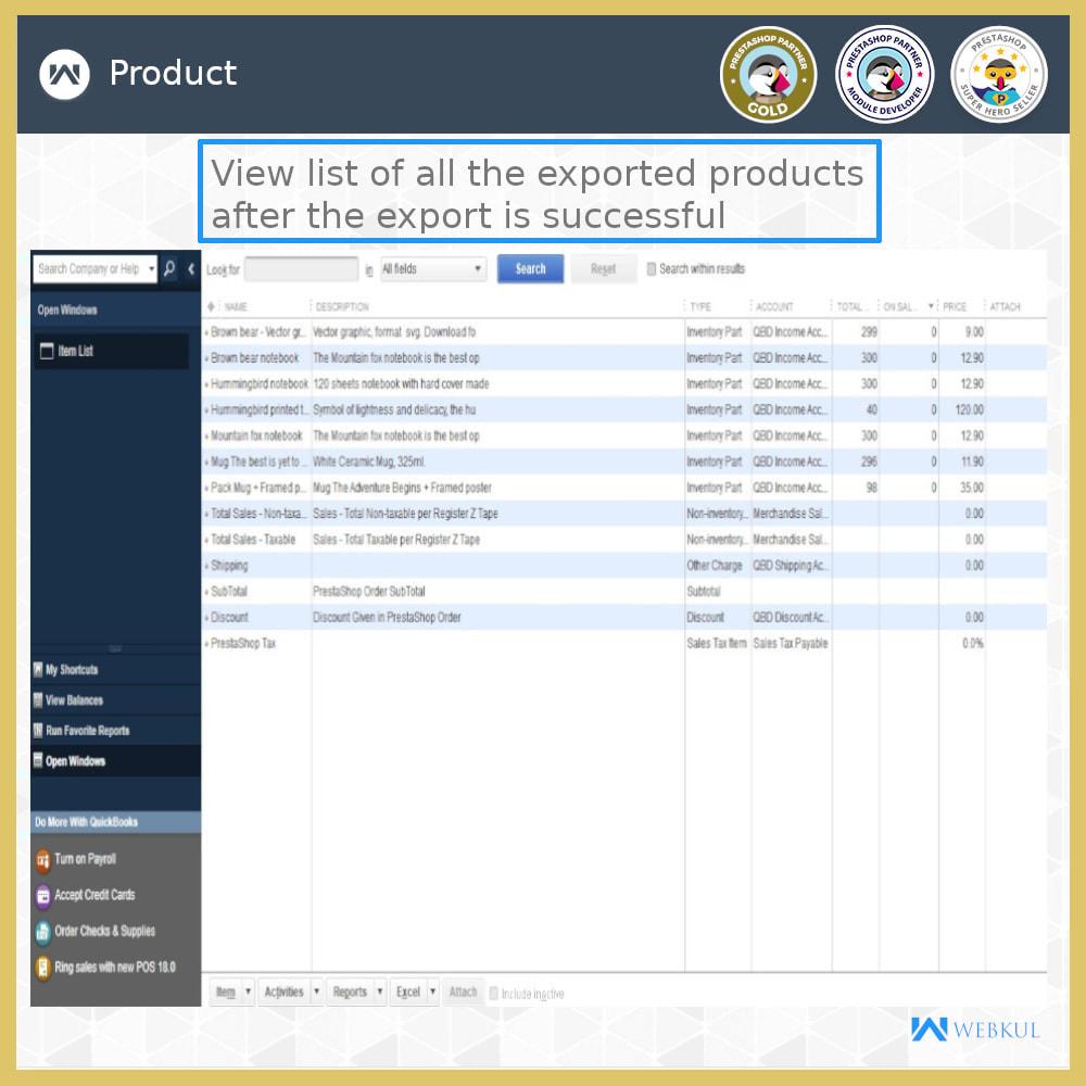 module - Integrazione (CRM, ERP...) - QuickBooks Desktop Connector - 18