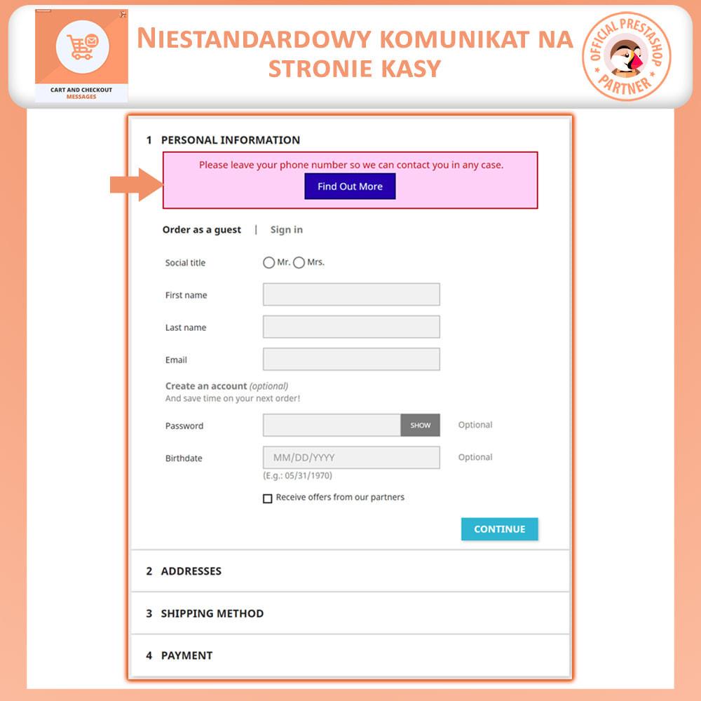 module - Procedury składania zamówień - Wiadomości Koszyka i Płatności - 3