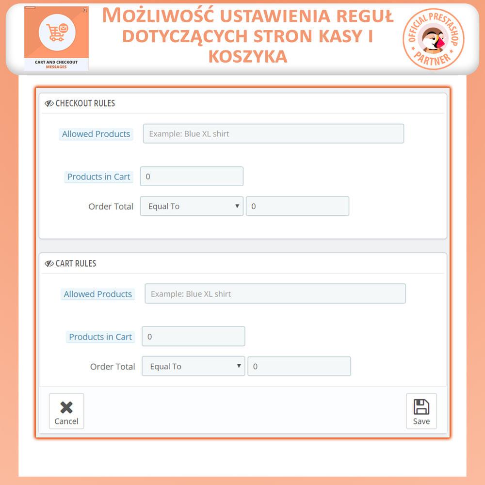 module - Procedury składania zamówień - Wiadomości Koszyka i Płatności - 7