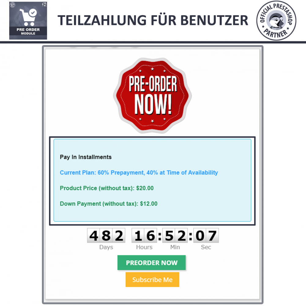 module - Anmeldung und Bestellvorgang - Pre-Order - Advance Booking | Out of Stock Selling - 5