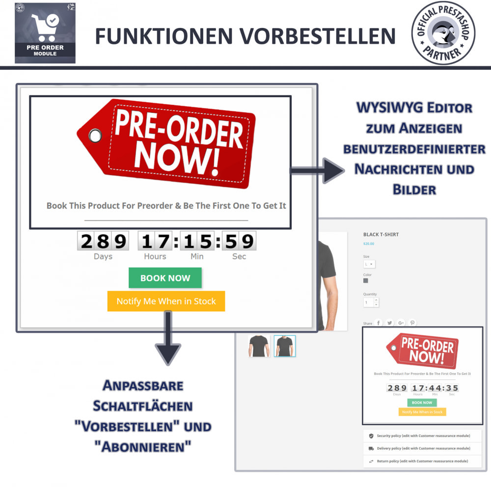 module - Anmeldung und Bestellvorgang - Pre-Order - Advance Booking | Out of Stock Selling - 4