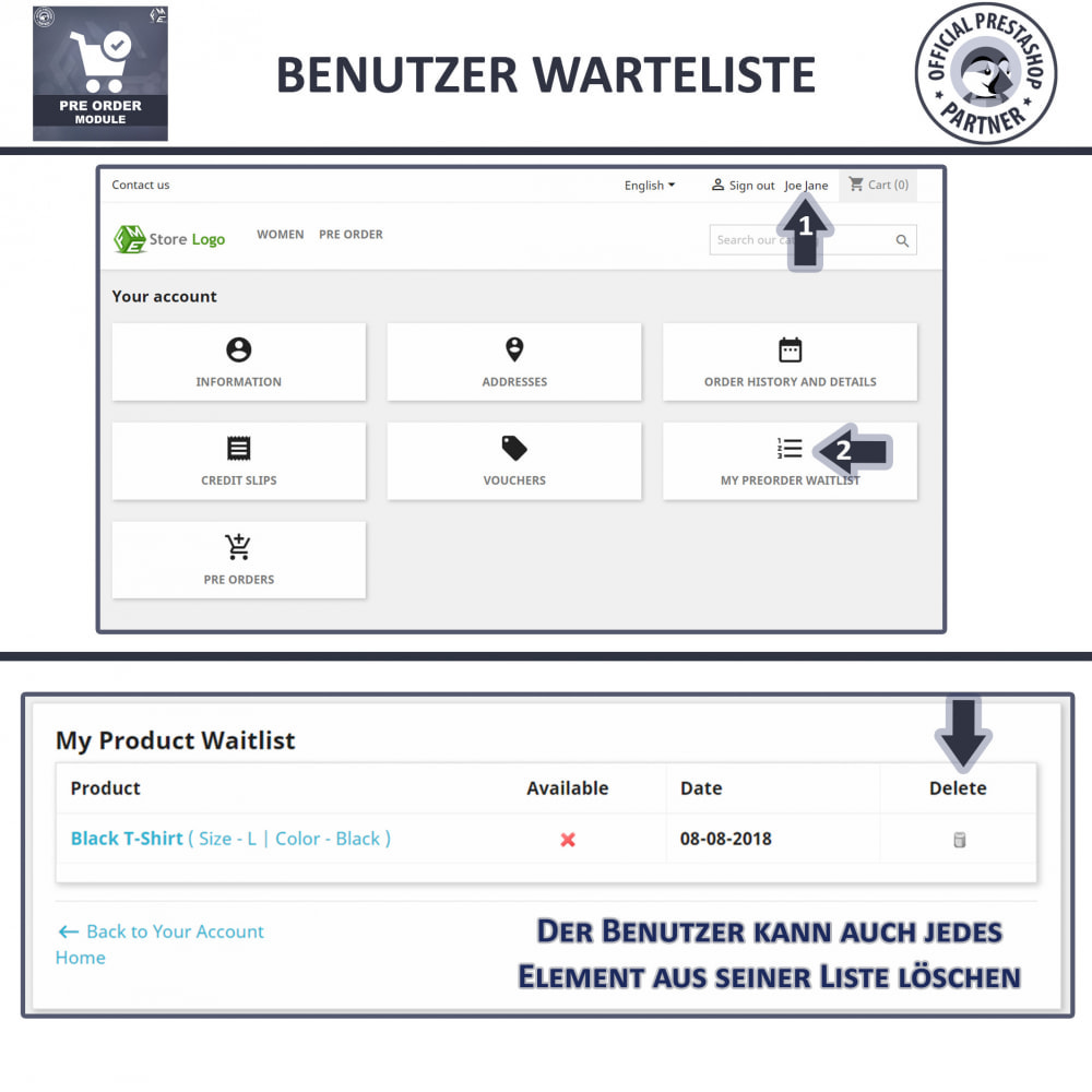 module - Anmeldung und Bestellvorgang - Pre-Order - Advance Booking | Out of Stock Selling - 7
