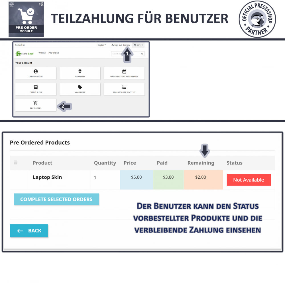 module - Anmeldung und Bestellvorgang - Pre-Order - Advance Booking | Out of Stock Selling - 8