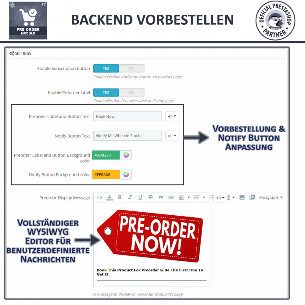 module - Anmeldung und Bestellvorgang - Pre-Order - Advance Booking | Out of Stock Selling - 14