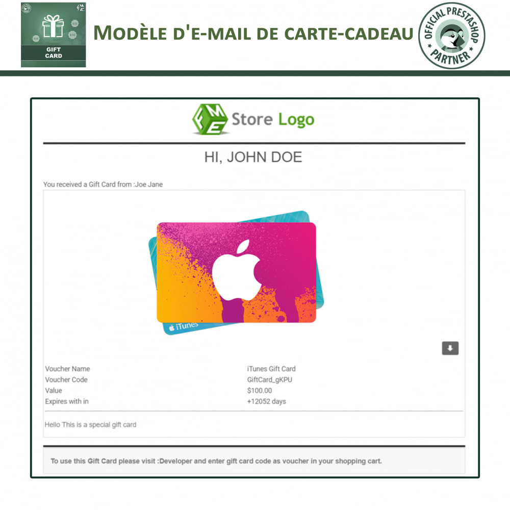 module - Liste de souhaits & Carte cadeau - Carte Cadeau - 9