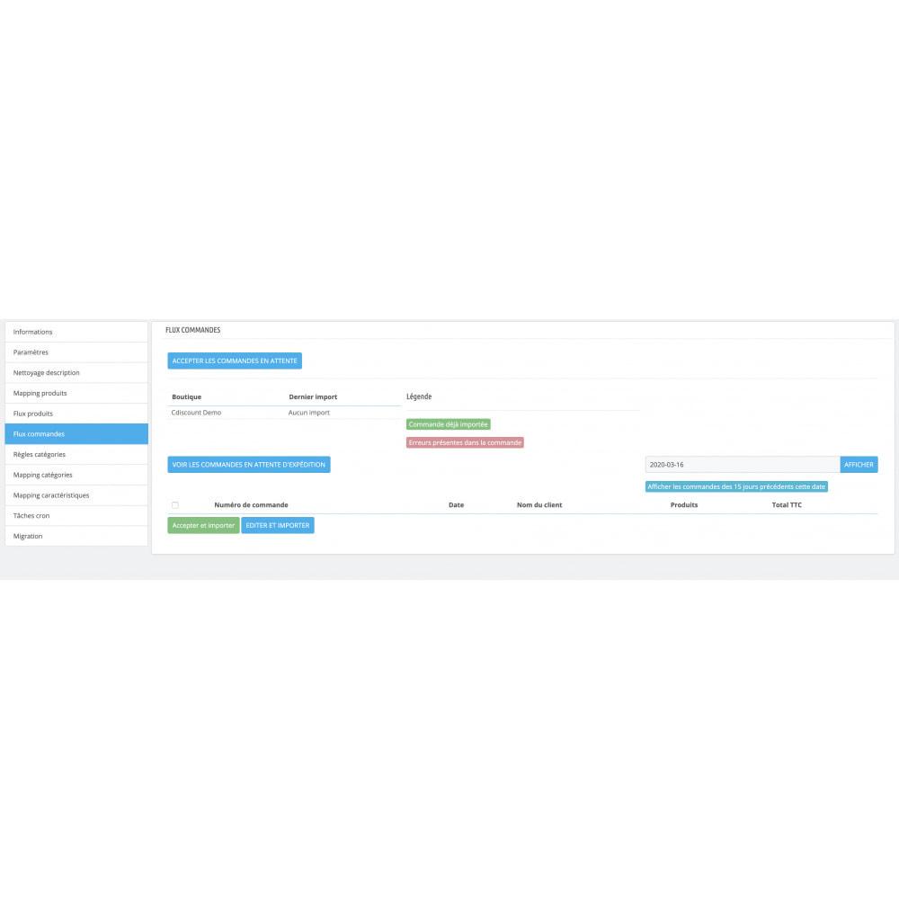 module - Marketplaces - Cdiscount - Synchronisation à la marketplace - 17